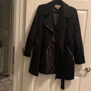 Michael Kors Black Wool Coat.